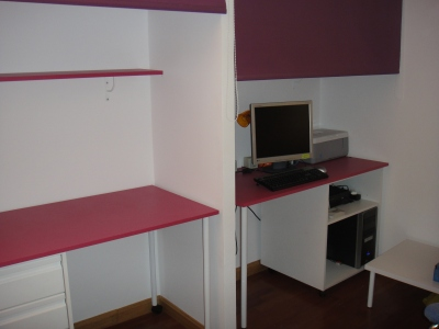 Detalle de una de las habitaciones de la Residencia Agora